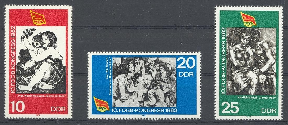 Stamps with Art, Propaganda from Germany (DDR) (image for product #031958)