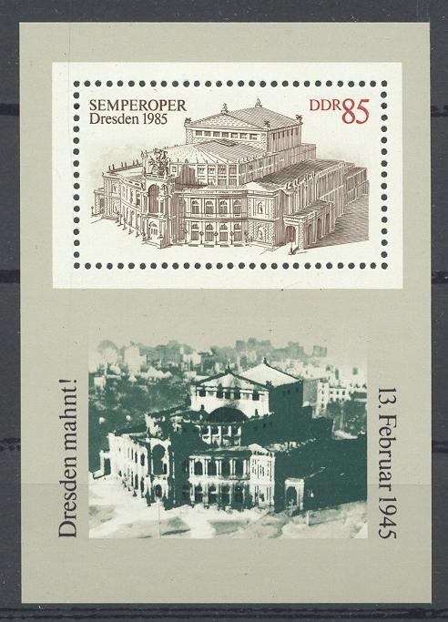 Stamps with Architecture, Opera from Germany (DDR) (image for product #031996)