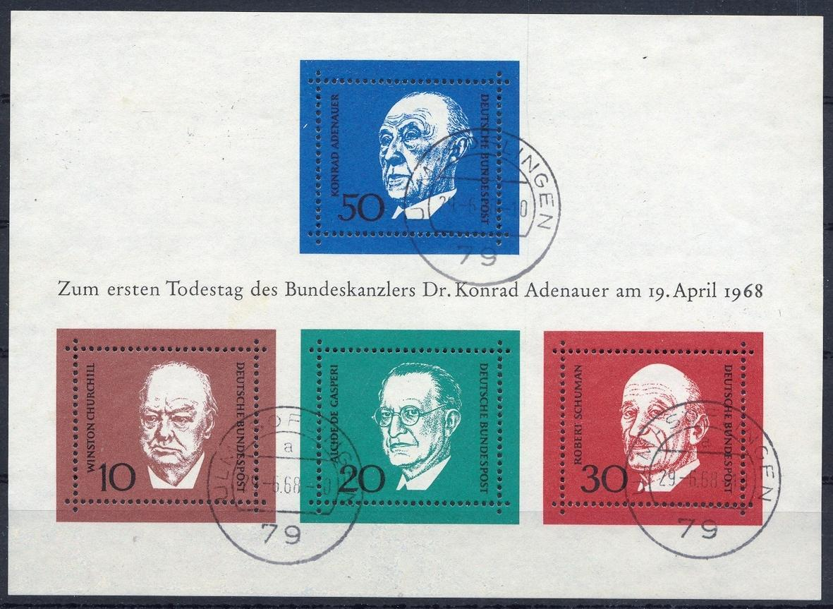 Stamps with Adenauer (Konrad), Churchill from Germany (image for product #032028)
