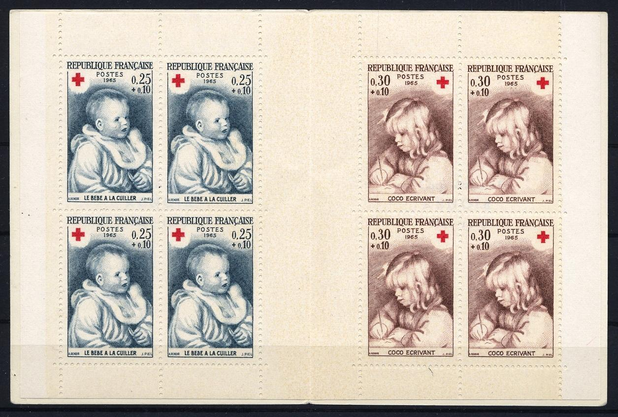 Stamps with Booklet, Red Cross from France (image for product #032052)