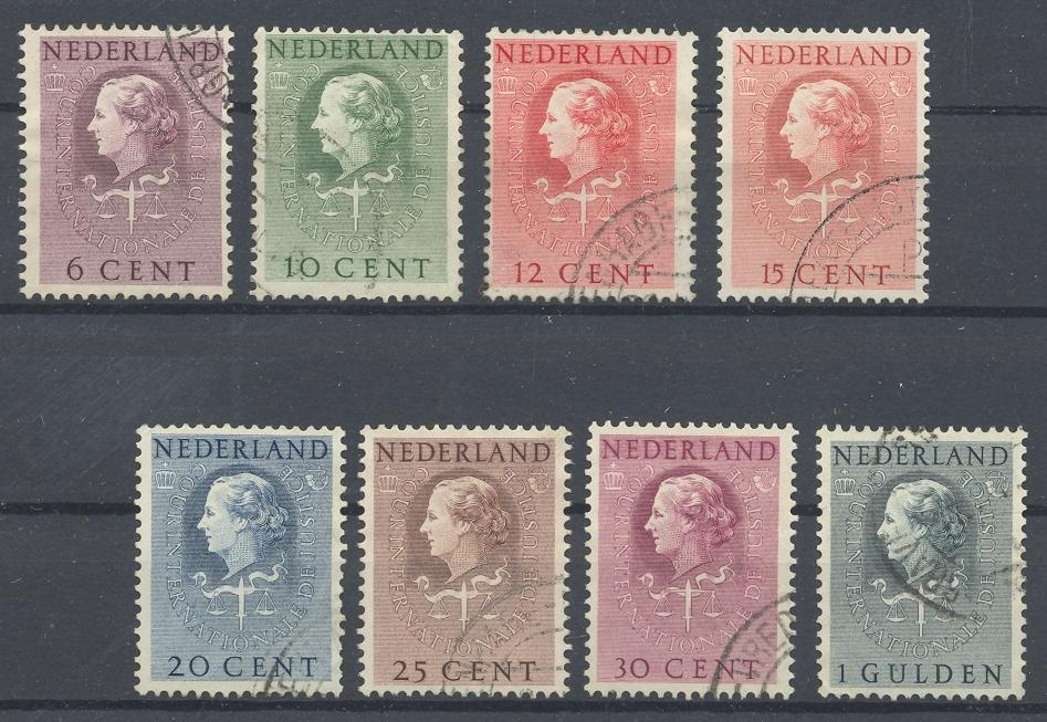 Stamps with Court of Justice from Netherlands (image for product #032056)