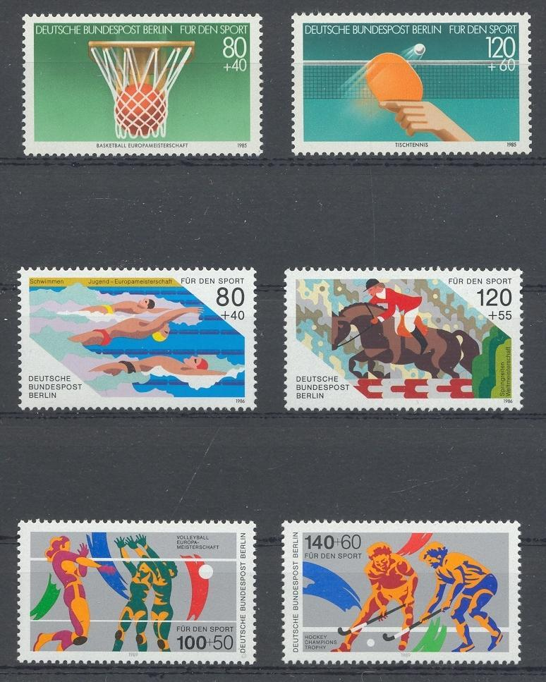 Stamps with Volleyball, Basketball from Germany (image for product #032060)