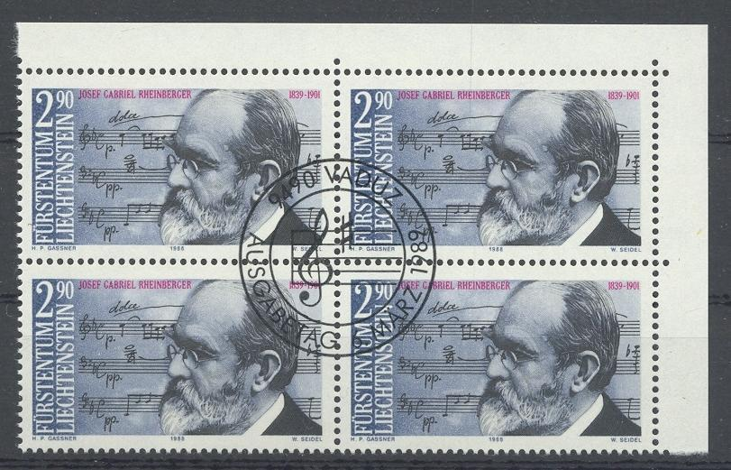 Stamps with Music, Composer from Liechtenstein (image for product #032063)