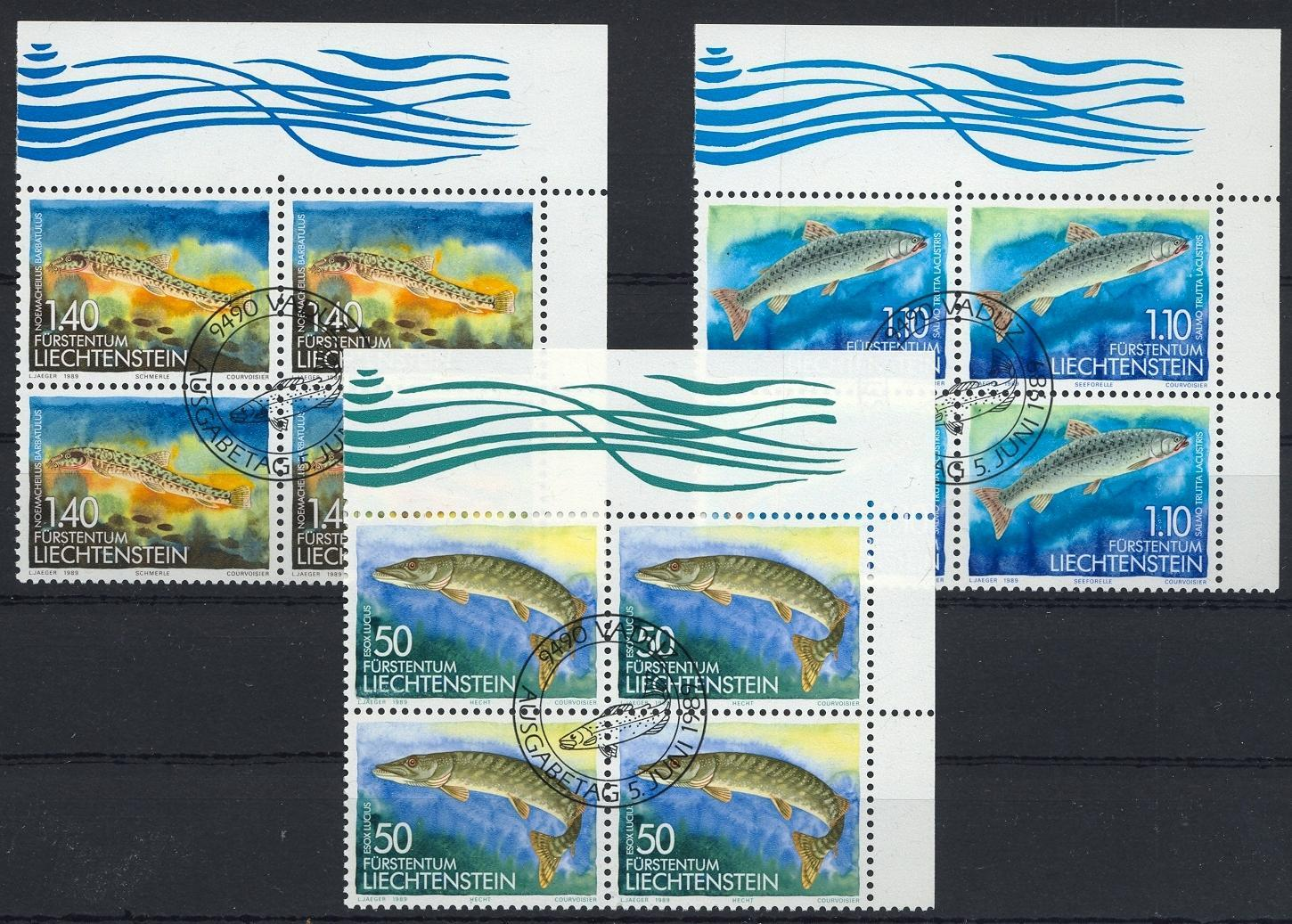 Stamps with Fish from Liechtenstein (image for product #032064)