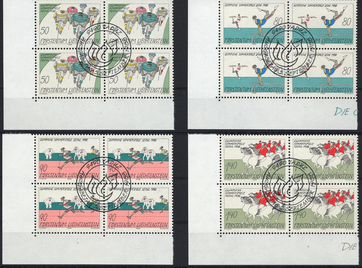 Stamps with Olympic Games, Bicycle, Horse from Liechtenstein (image for product #032069)