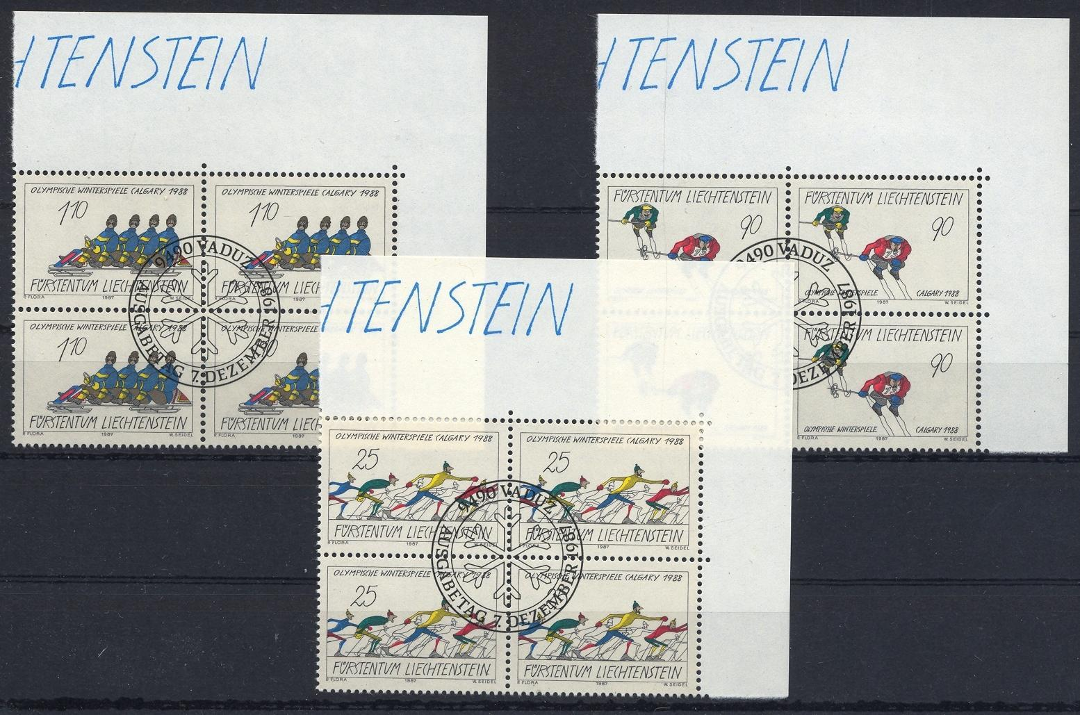 Stamps with Olympic Games, Bobsleigh from Liechtenstein (image for product #032078)