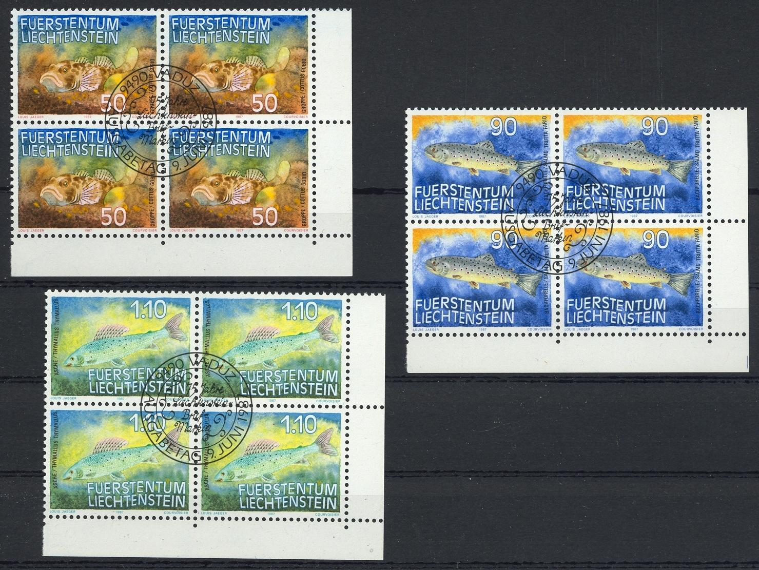 Stamps with Fish from Liechtenstein (image for product #032088)