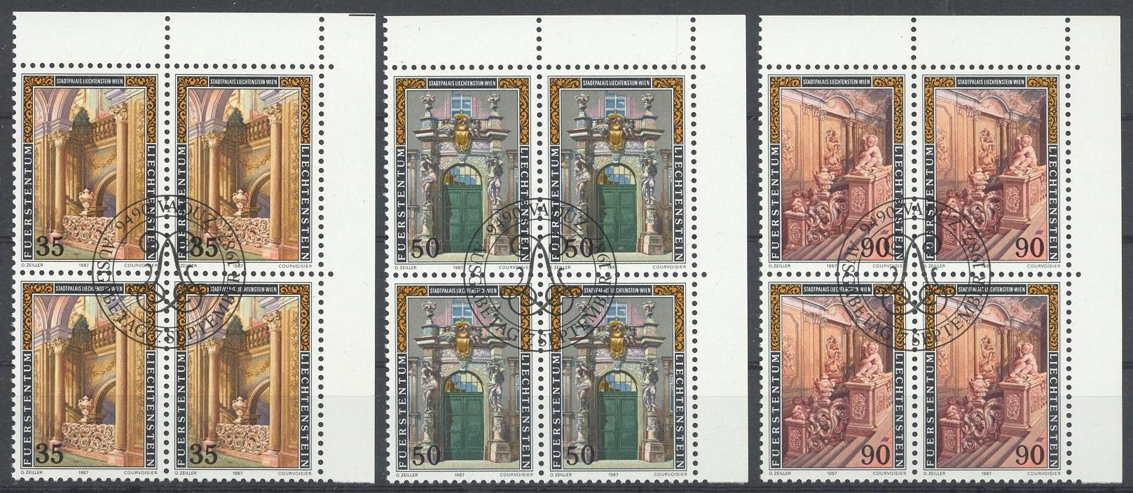 Stamps with Palace from Liechtenstein (image for product #032089)