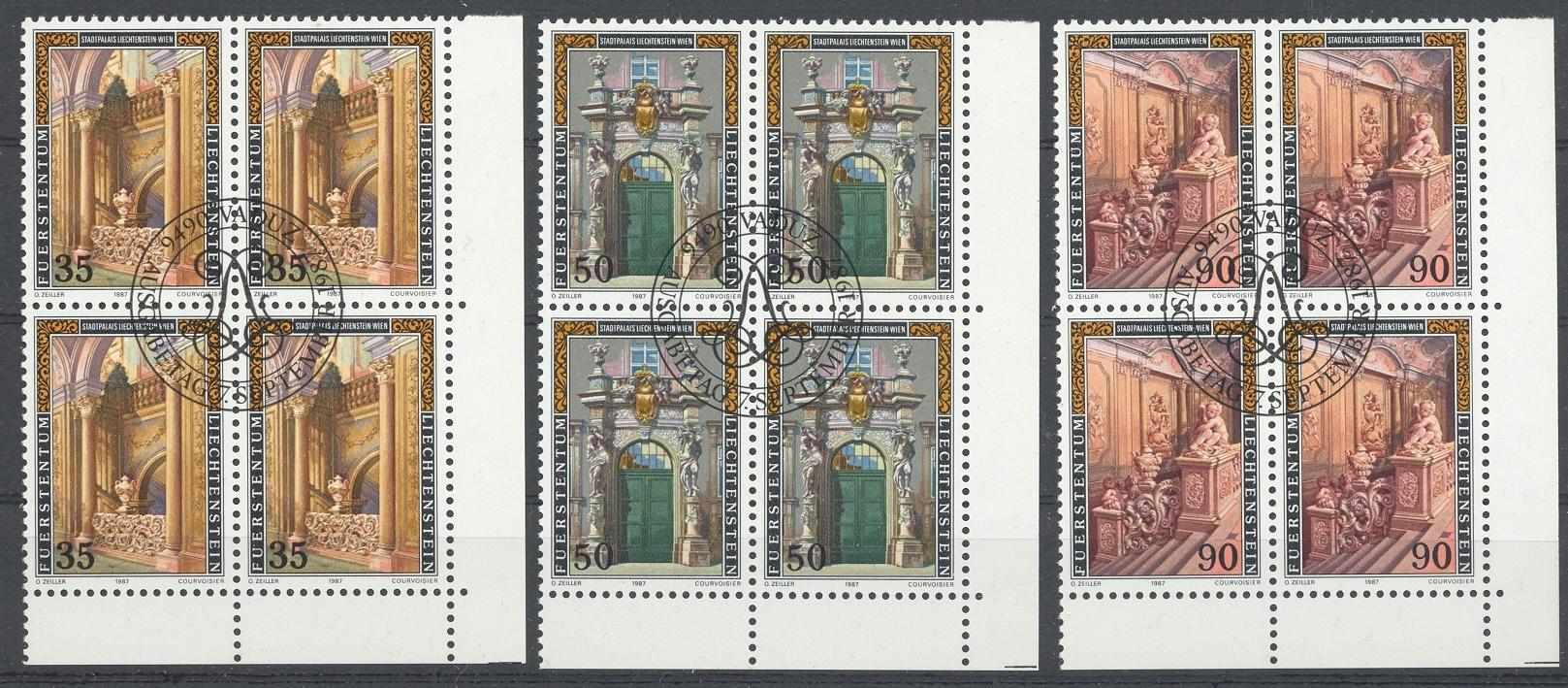 Stamps with Palace from Liechtenstein (image for product #032090)