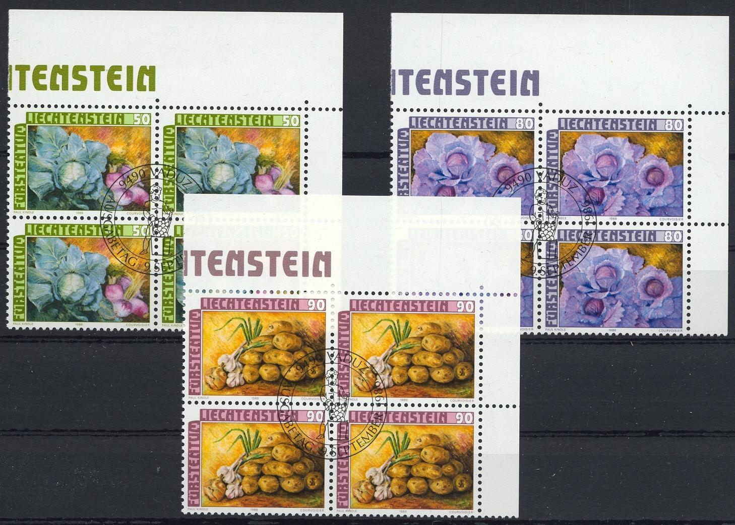 Stamps with Food from Liechtenstein (image for product #032095)