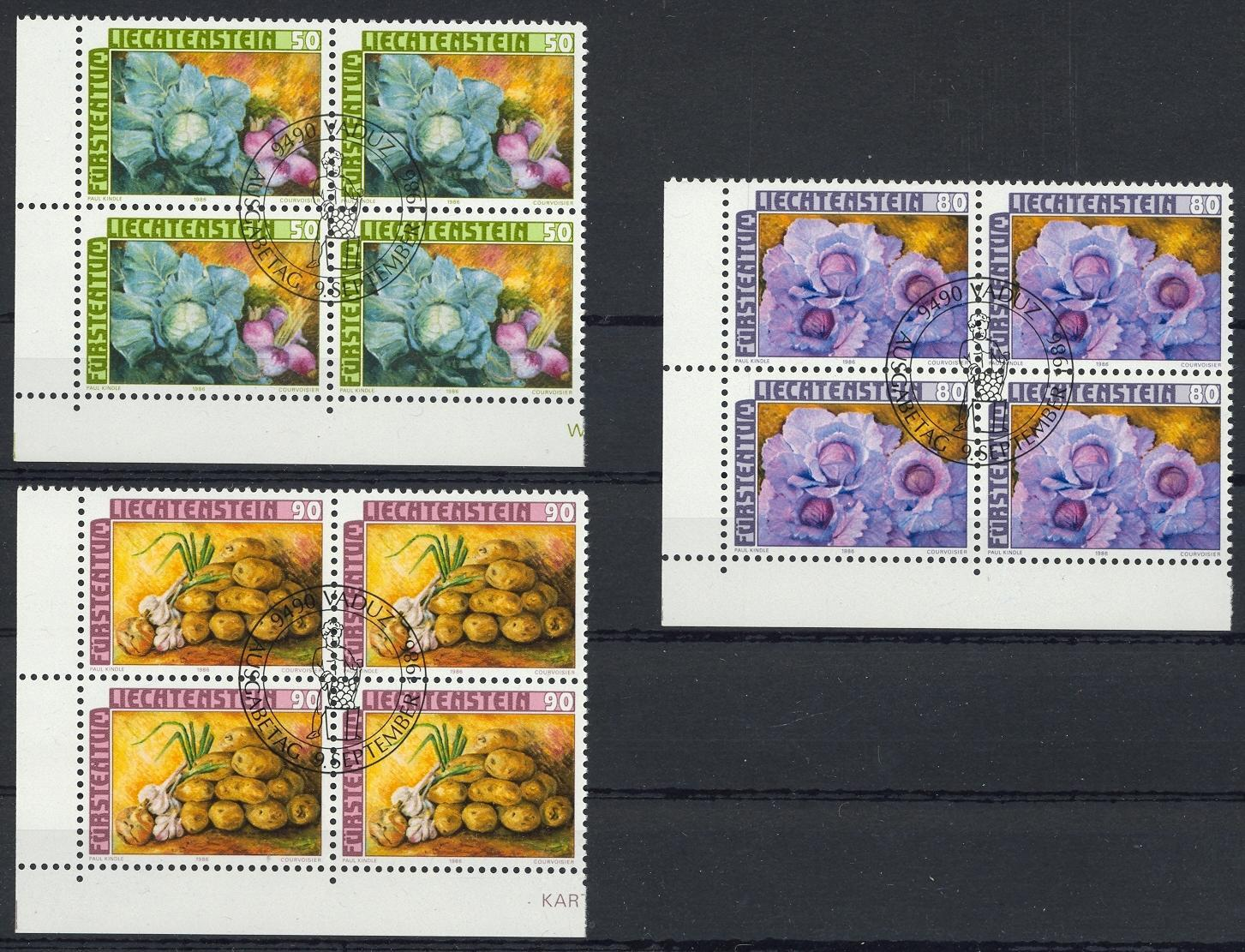 Stamps with Food from Liechtenstein (image for product #032096)