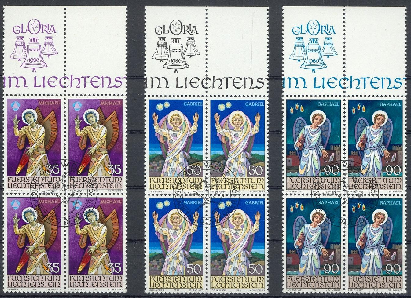 Stamps with Angel from Liechtenstein (image for product #032097)