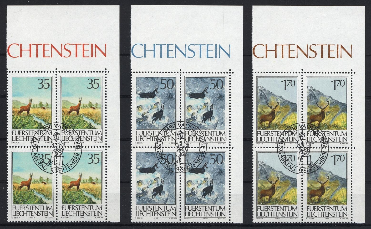 Stamps with Goat, Deer from Liechtenstein (image for product #032099)