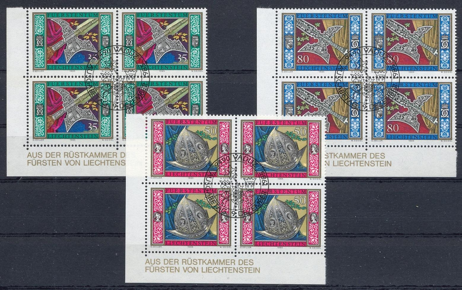 Stamps with Helmet, Weapons from Liechtenstein (image for product #032106)