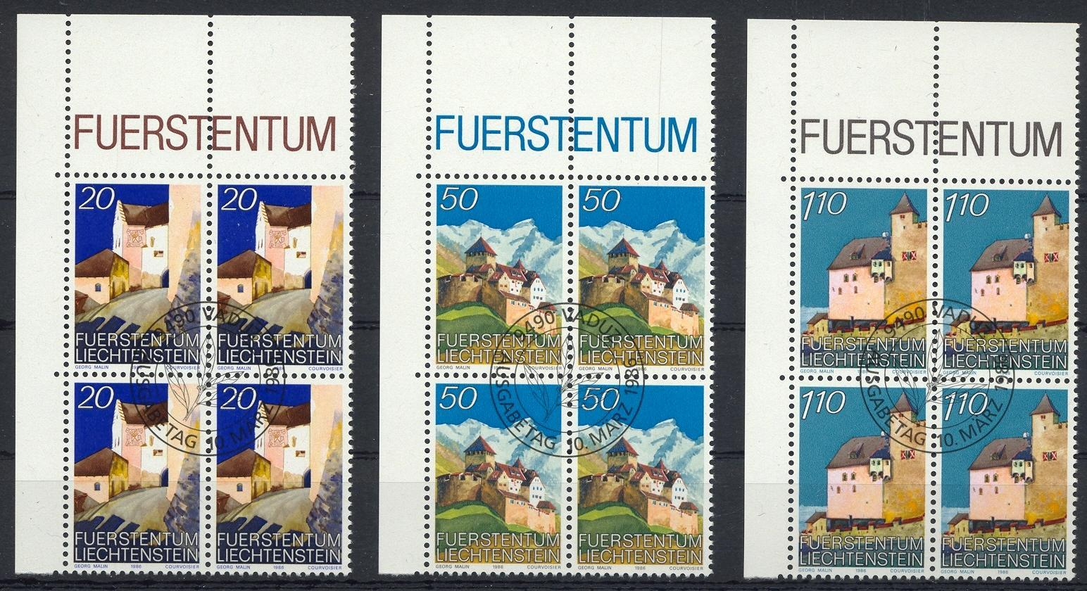 Stamps with Buildings from Liechtenstein (image for product #032107)