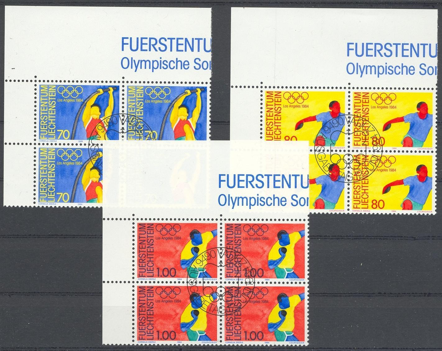 Stamps with Olympic Games, Pole Vault from Liechtenstein (image for product #032110)