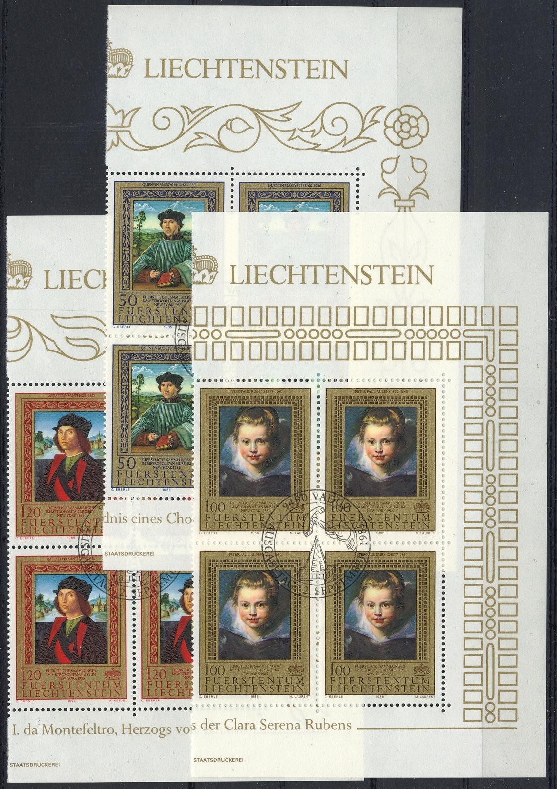 Stamps with Rubens, Art from Liechtenstein (image for product #032114)