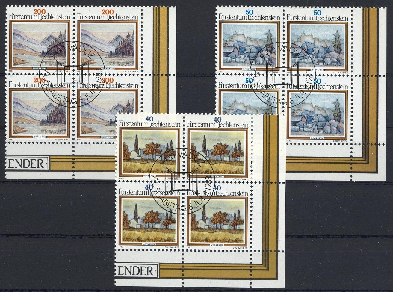 Stamps with Landscapes, Art from Liechtenstein (image for product #032116)