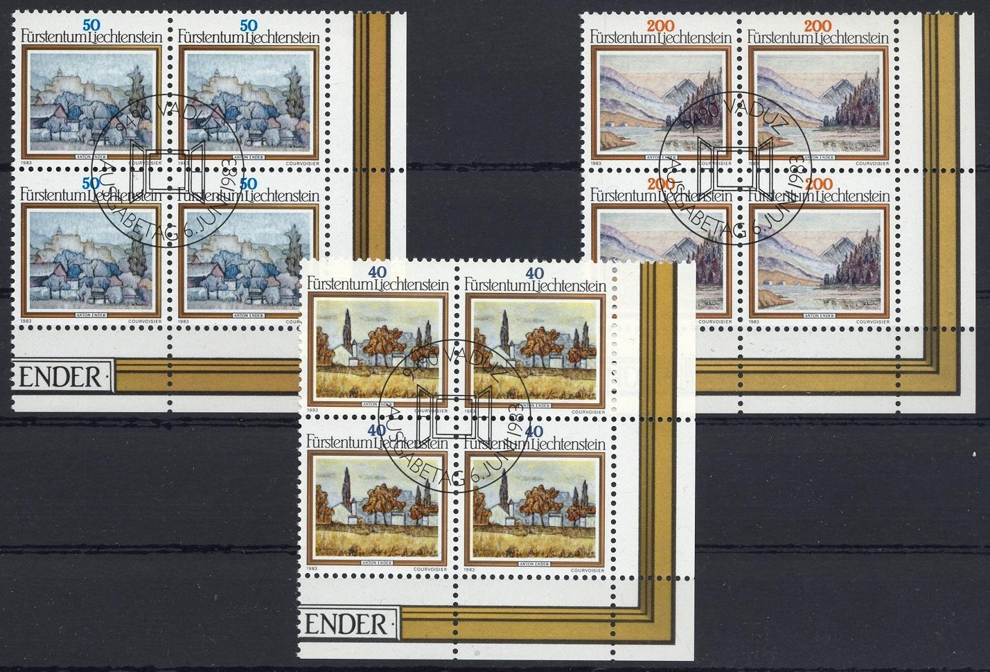 Stamps with Art, Landscapes from Liechtenstein (image for product #032117)