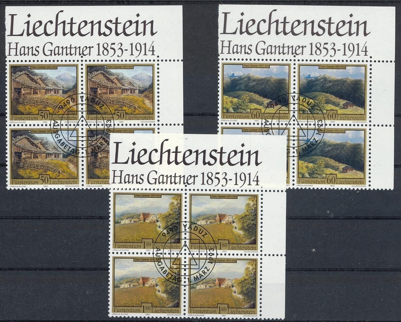 Stamps with Buildings, Art from Liechtenstein (image for product #032119)