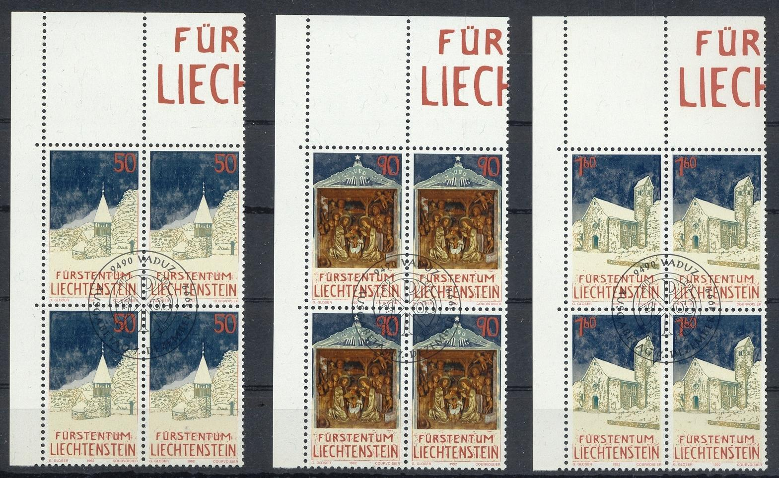 Stamps with Buildings, Christmas from Liechtenstein (image for product #032120)