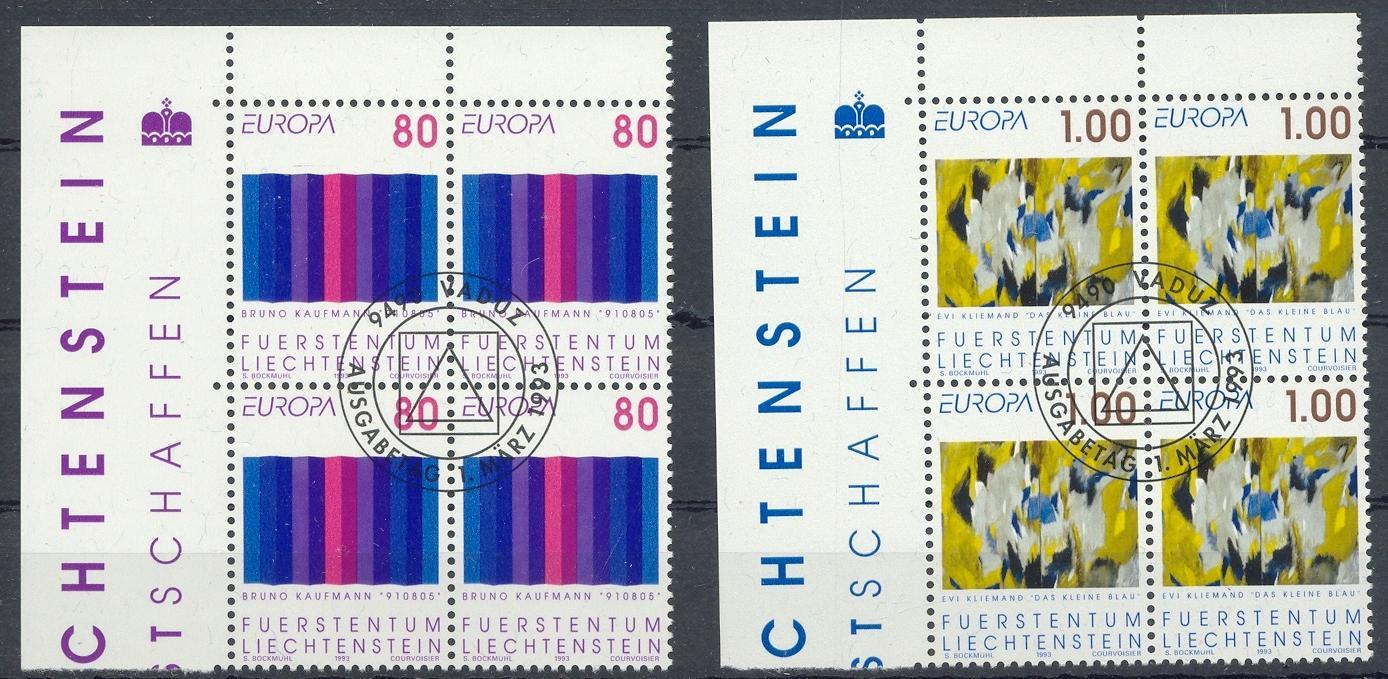 Stamps with Europe, Art from Liechtenstein (image for product #032124)