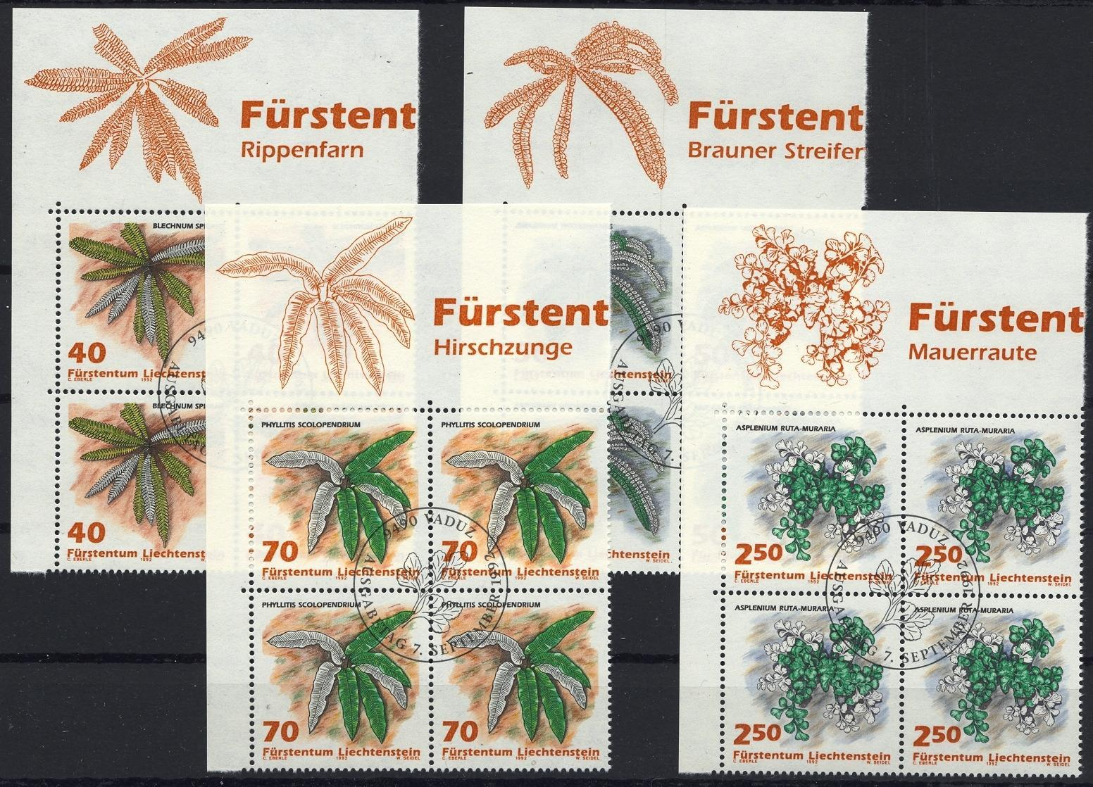 Stamps with Plants from Liechtenstein (image for product #032125)
