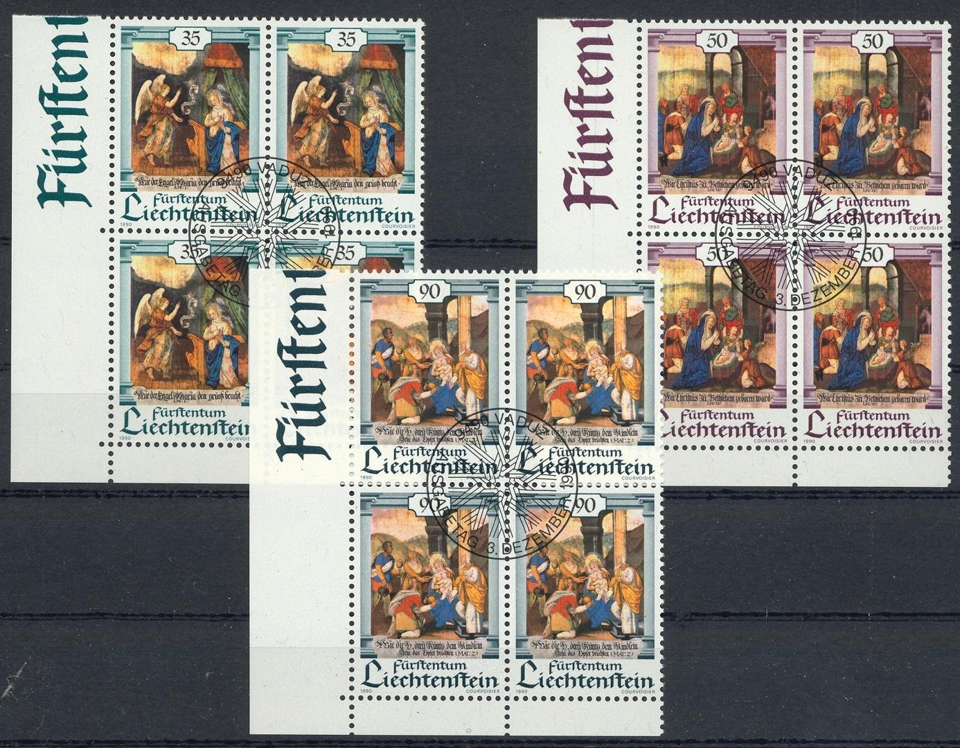 Stamps with Christmas, Art from Liechtenstein (image for product #032146)