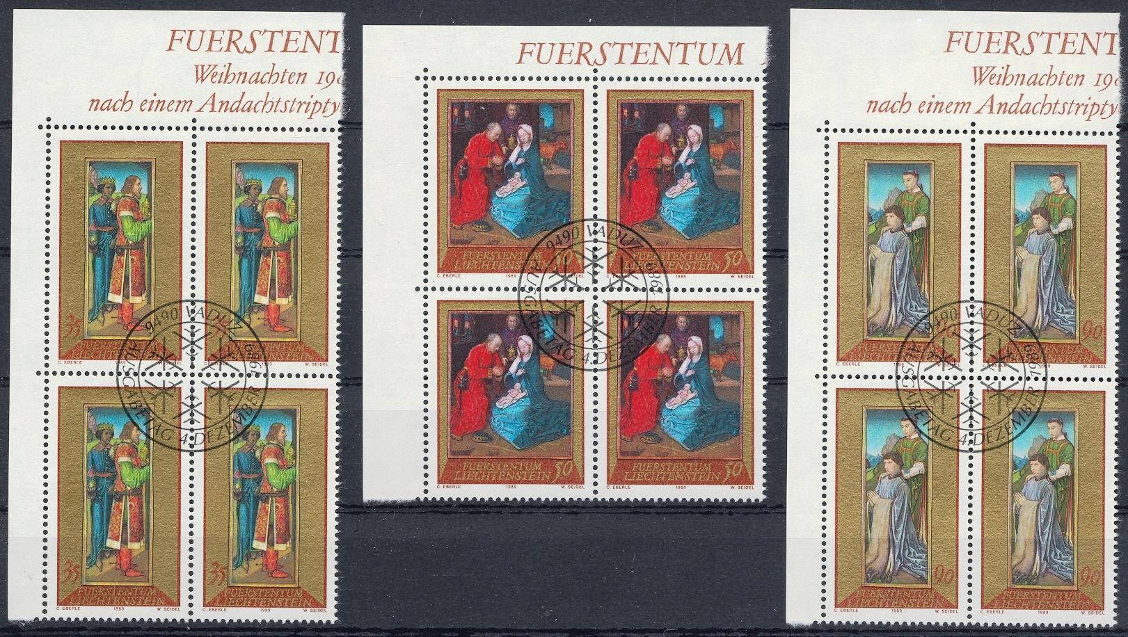 Stamps with Christmas, Art from Liechtenstein (image for product #032150)