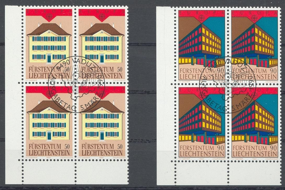 Stamps with Europe CEPT, Architecture from Liechtenstein (image for product #032154)