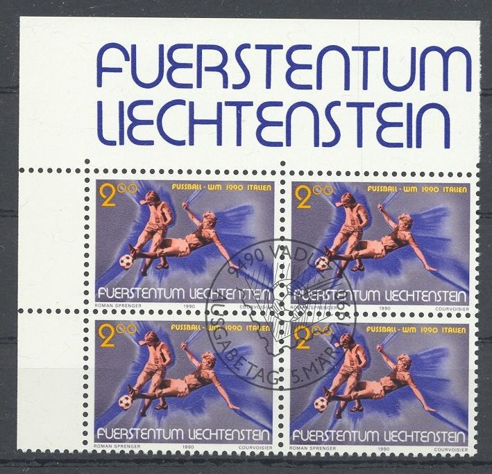 Stamps with Soccer from Liechtenstein (image for product #032155)