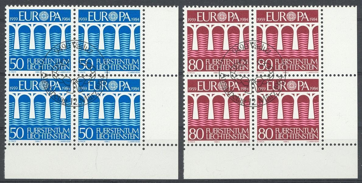 Stamps with Bridge, Europe CEPT from Liechtenstein (image for product #032163)