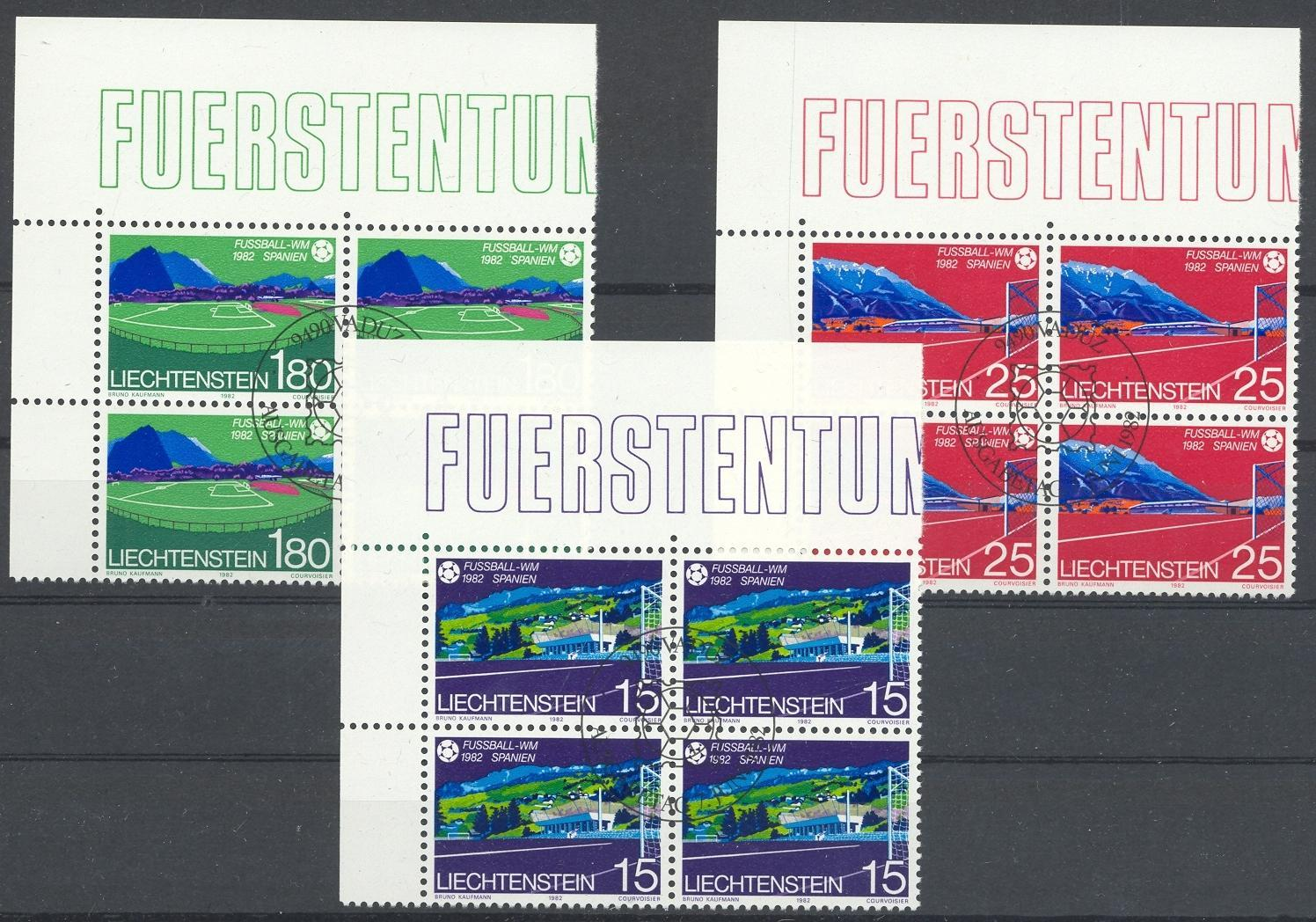 Stamps with Soccer from Liechtenstein (image for product #032169)