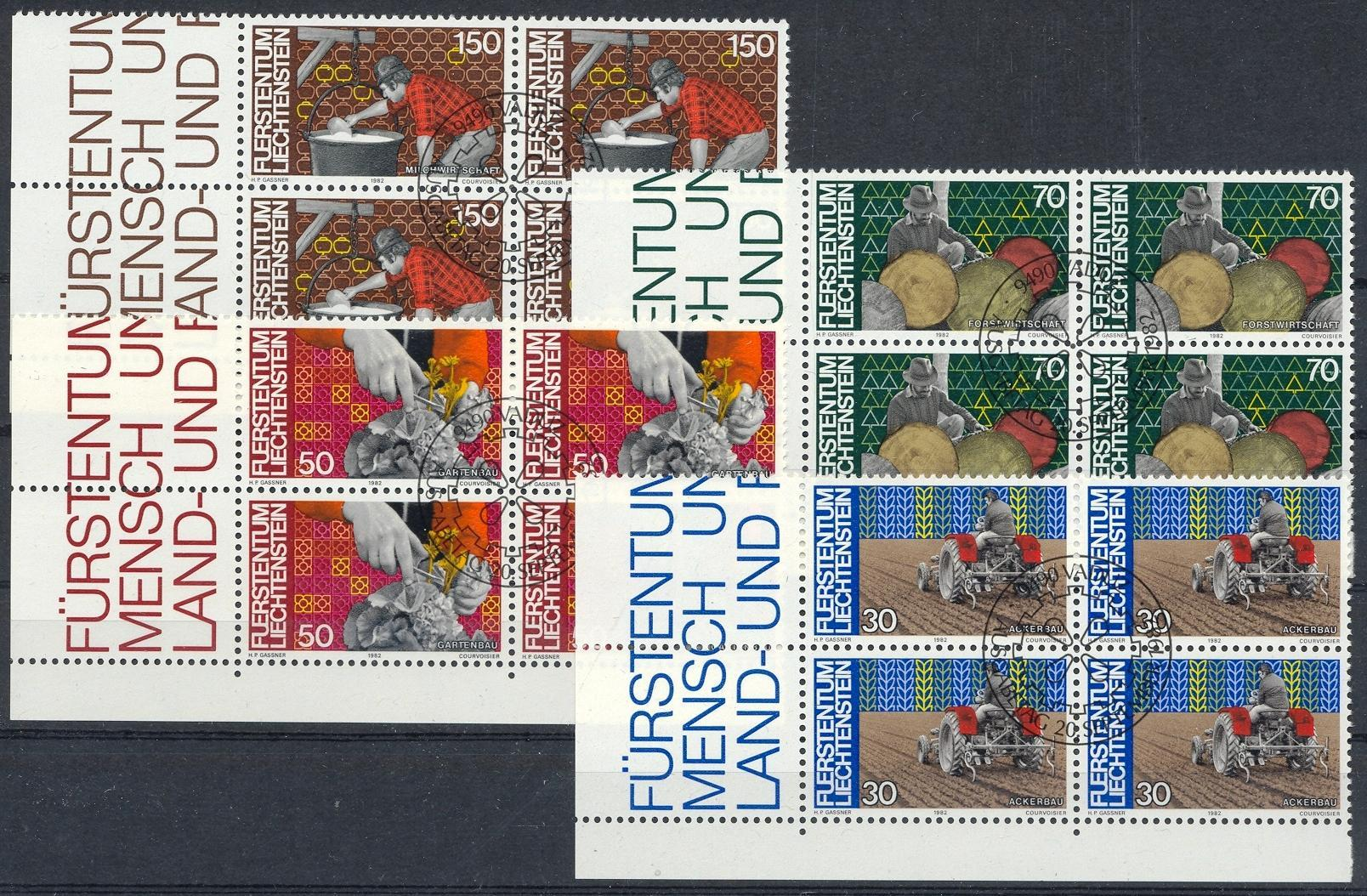 Stamps with Trades, Agriculture from Liechtenstein (image for product #032171)