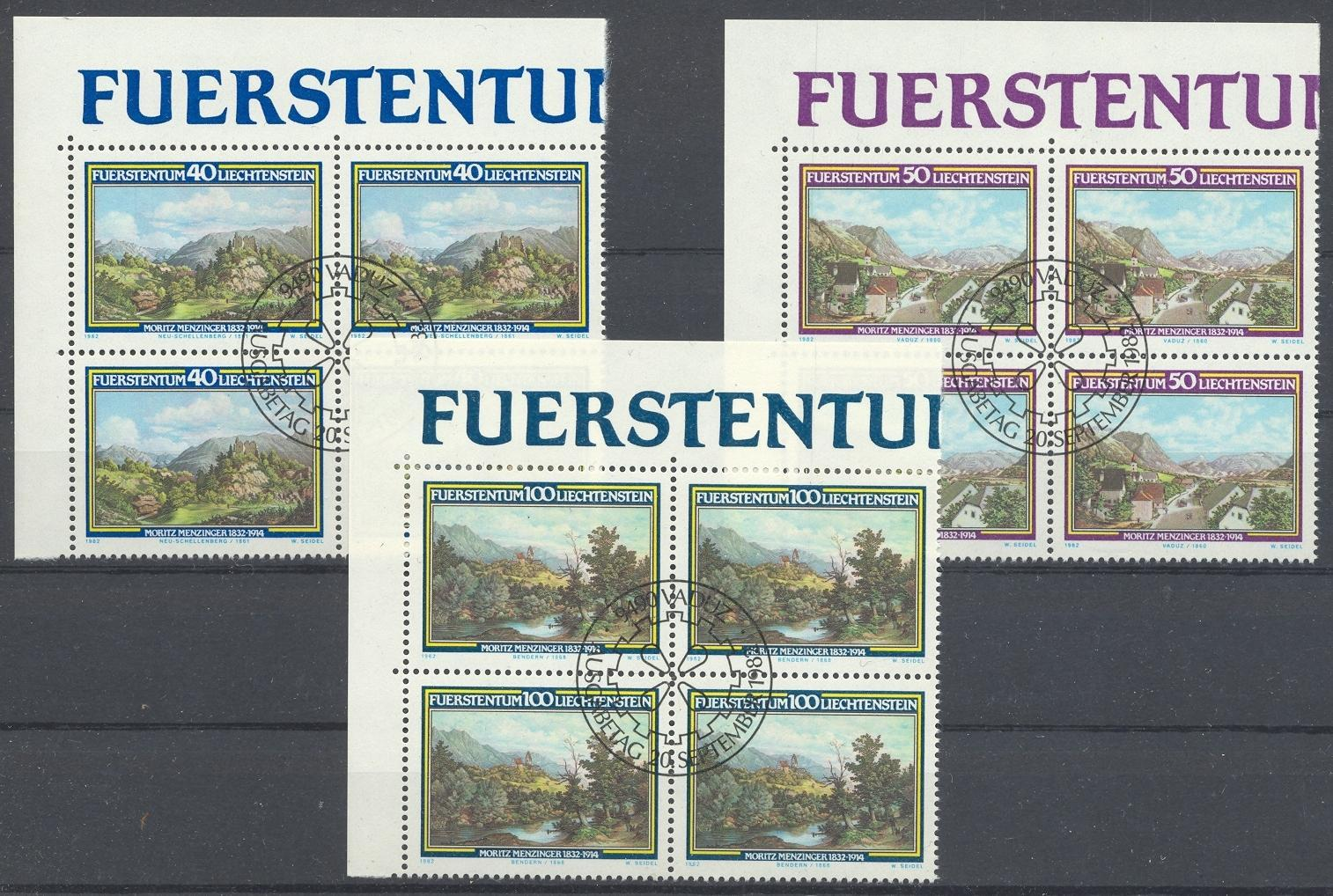 Stamps with Landscapes, Art from Liechtenstein (image for product #032173)