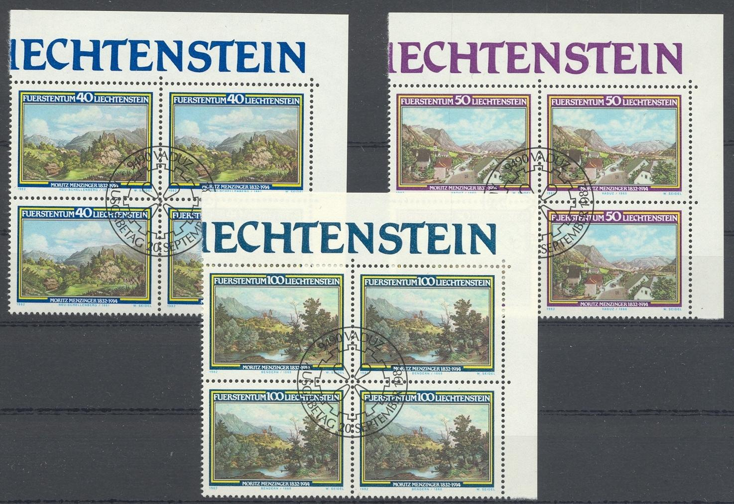 Stamps with Landscapes, Art from Liechtenstein (image for product #032175)