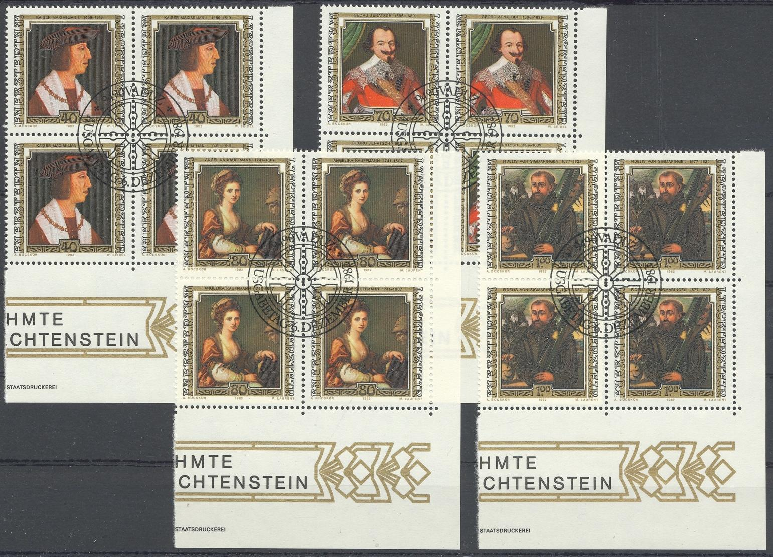 Stamps with Famous Persons from Liechtenstein (image for product #032176)