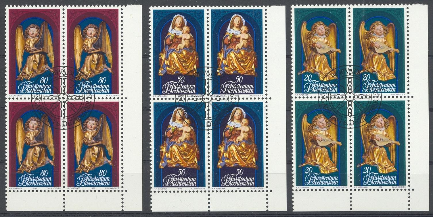 Stamps with Christmas, Art from Liechtenstein (image for product #032177)