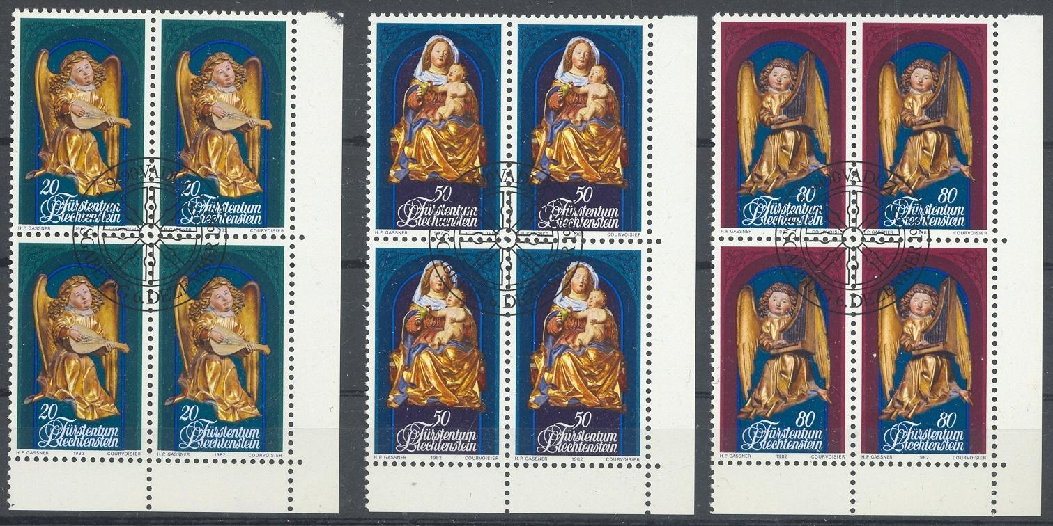 Stamps with Art, Christmas from Liechtenstein (image for product #032178)