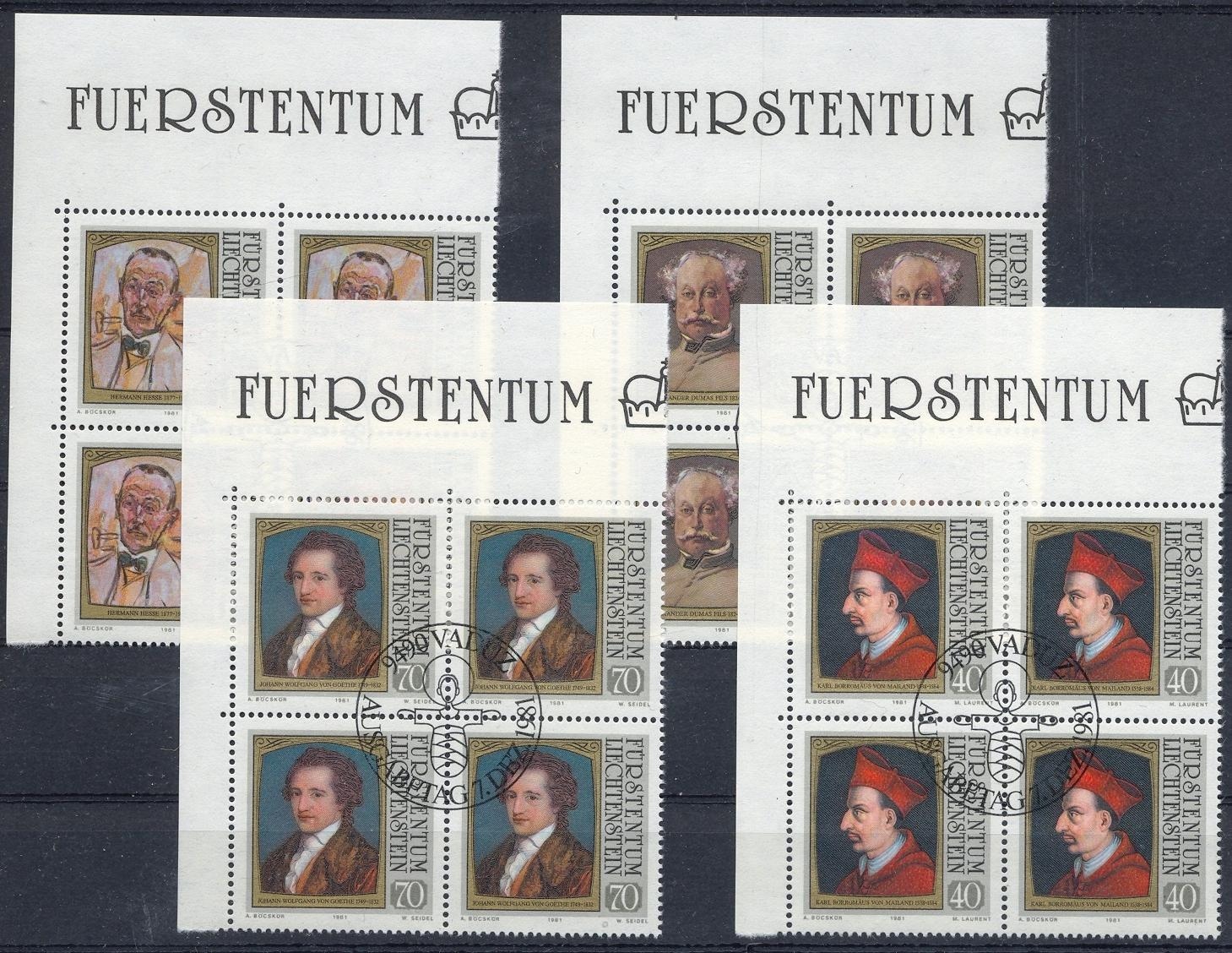 Stamps with Writing / Writers, Famous Persons from Liechtenstein (image for product #032182)