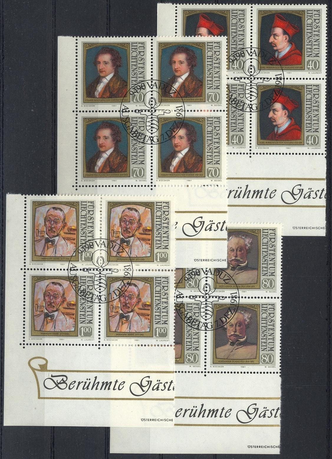 Stamps with Famous Persons, Writing / Writers from Liechtenstein (image for product #032183)