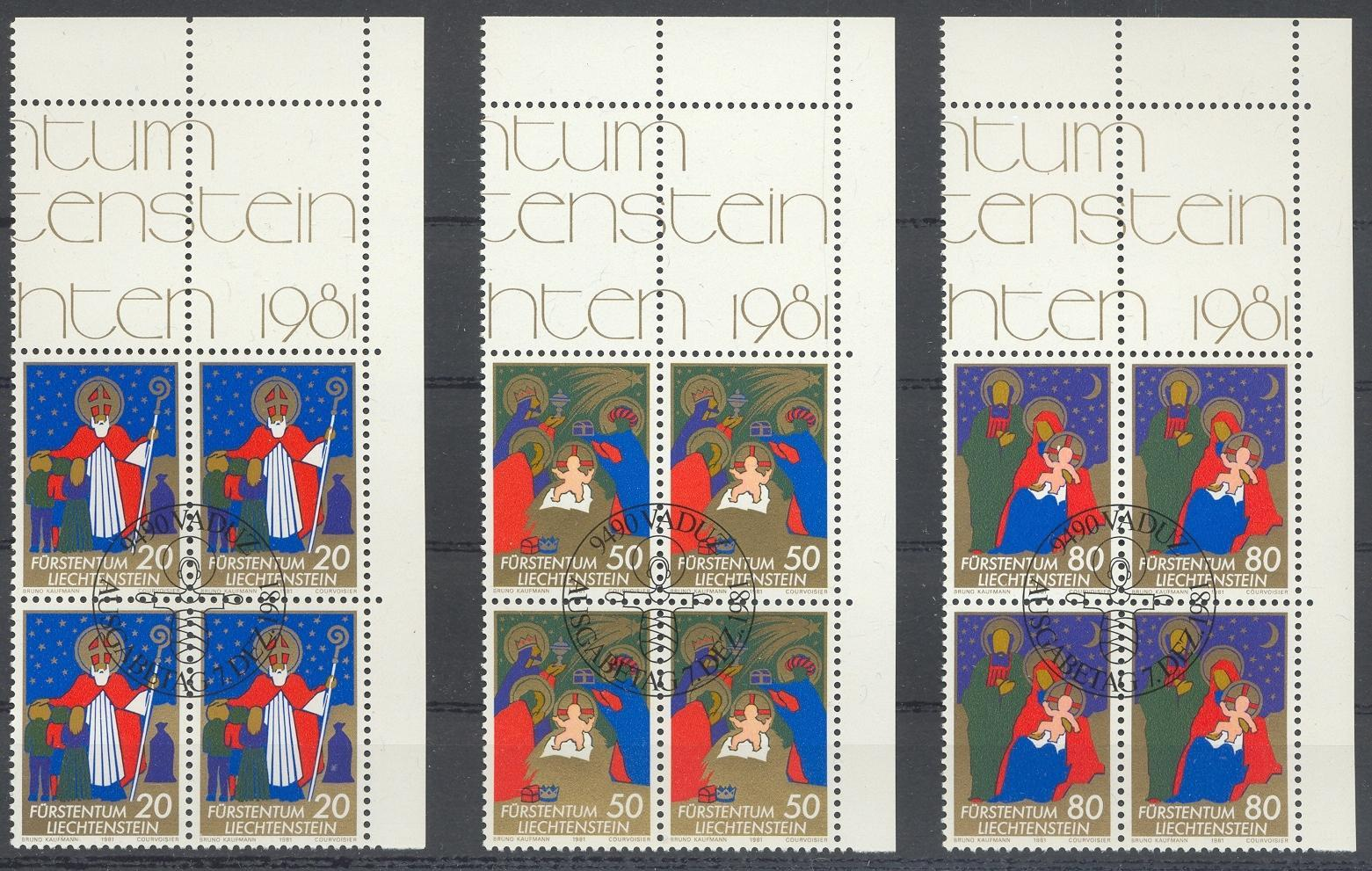 Stamps with Christmas from Liechtenstein (image for product #032184)
