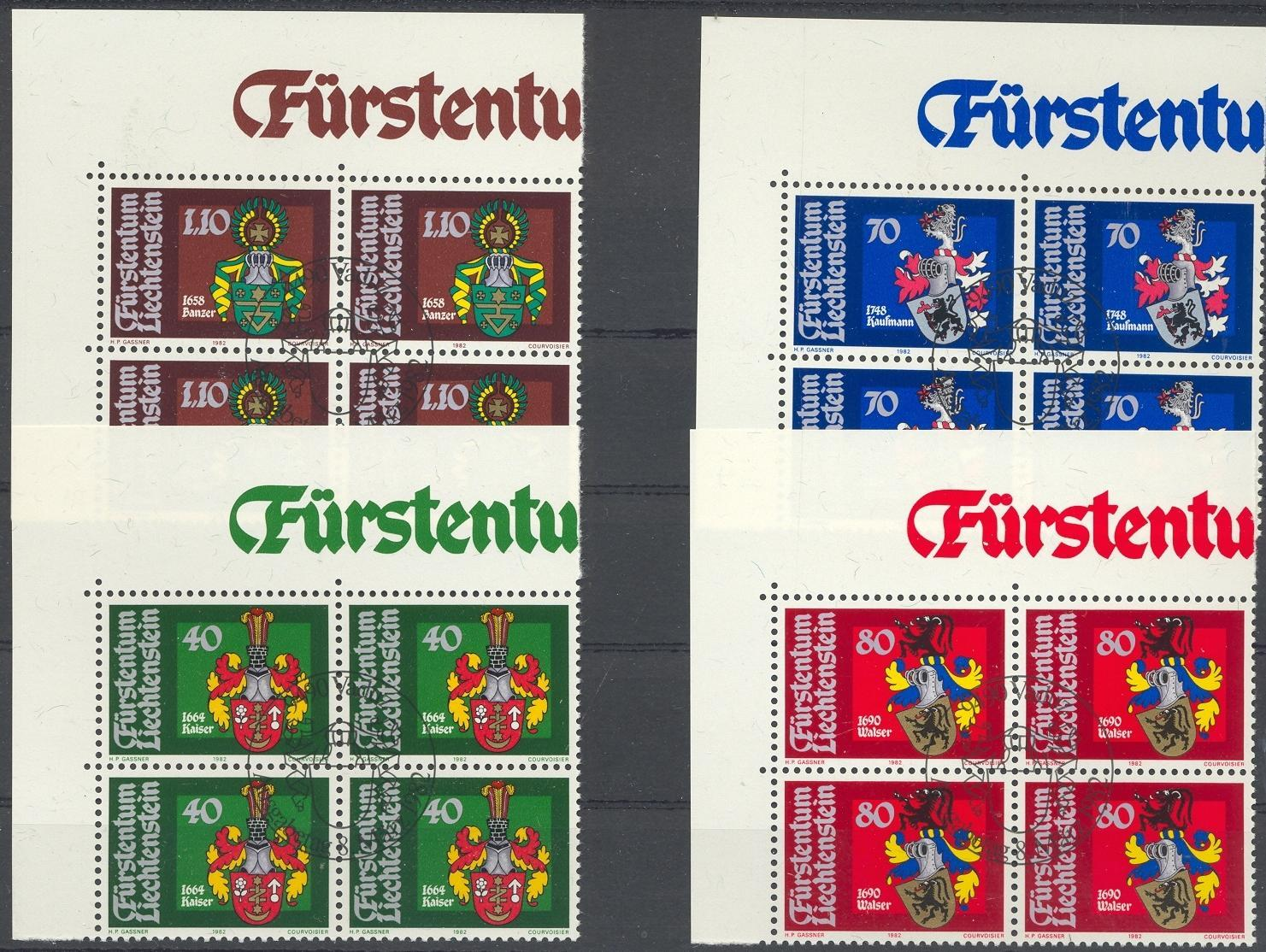 Stamps with Coat of Arms, Helmet from Liechtenstein (image for product #032187)