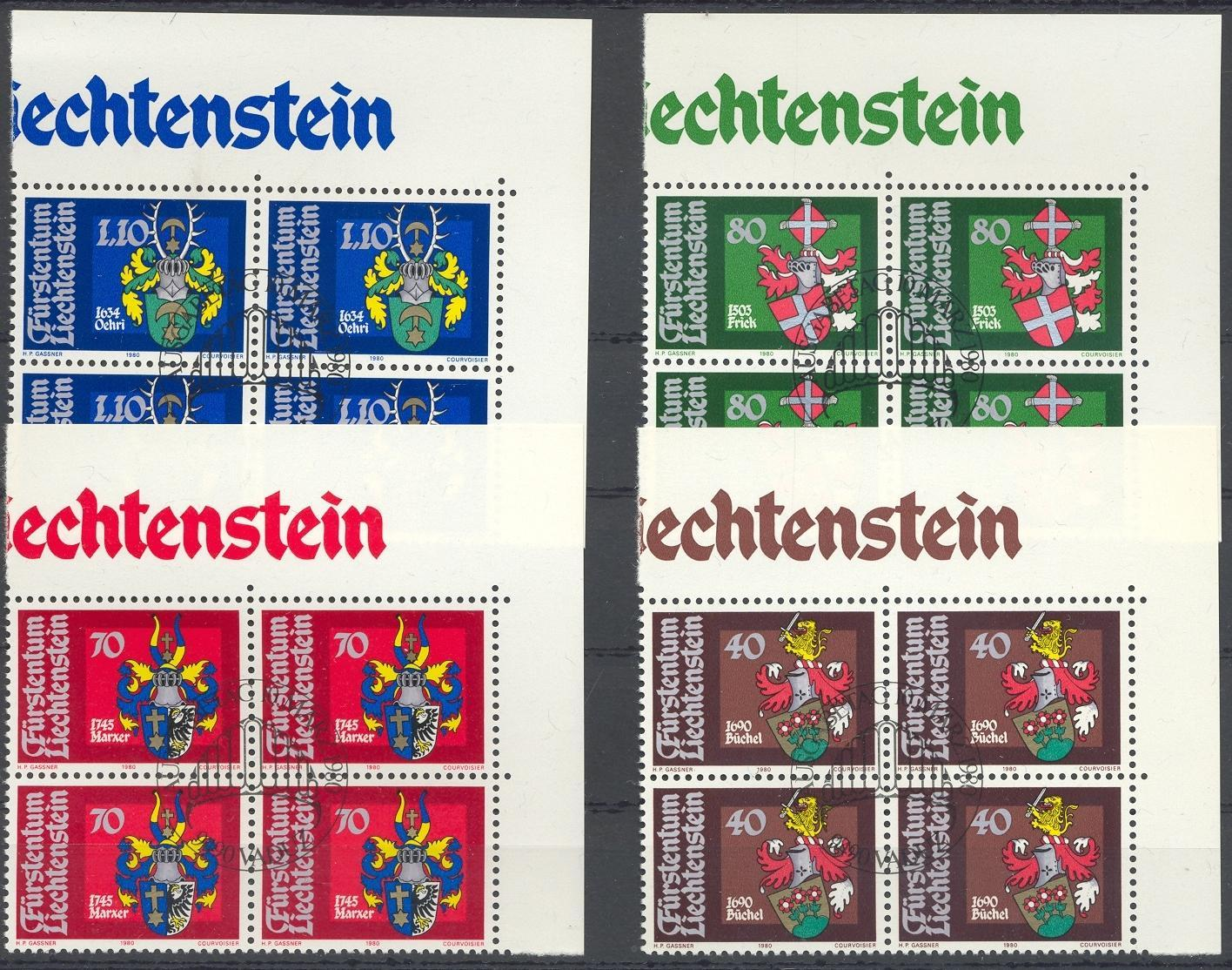 Stamps with Helmet, Coat of Arms from Liechtenstein (image for product #032191)