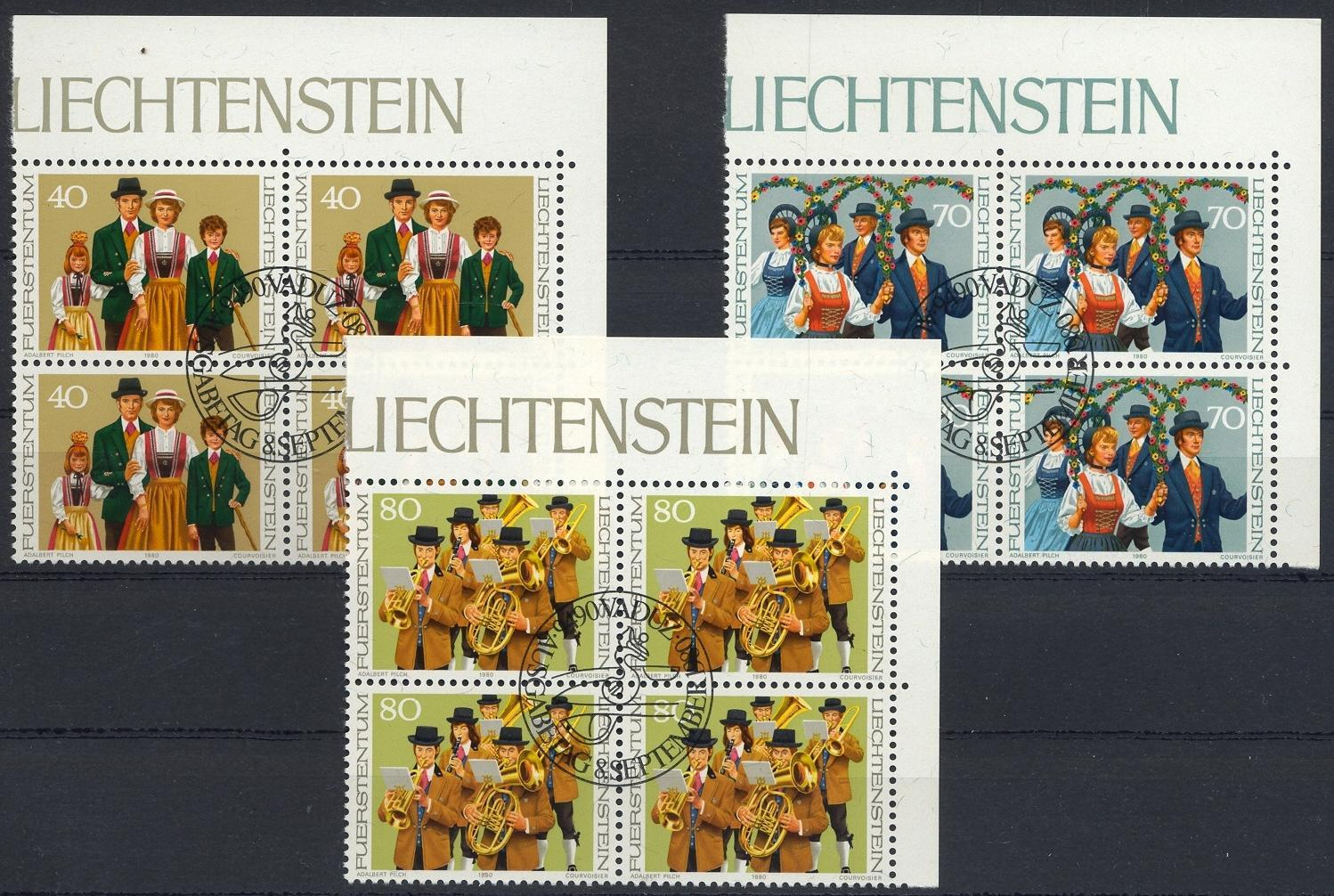 Stamps with Music Instruments, Folklore / Fables from Liechtenstein (image for product #032197)