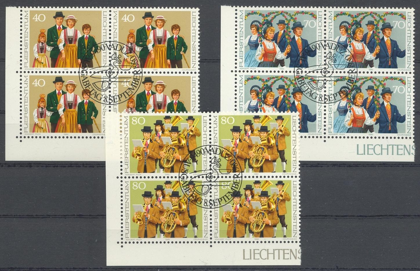 Stamps with Music Instruments, Folklore / Fables from Liechtenstein (image for product #032198)