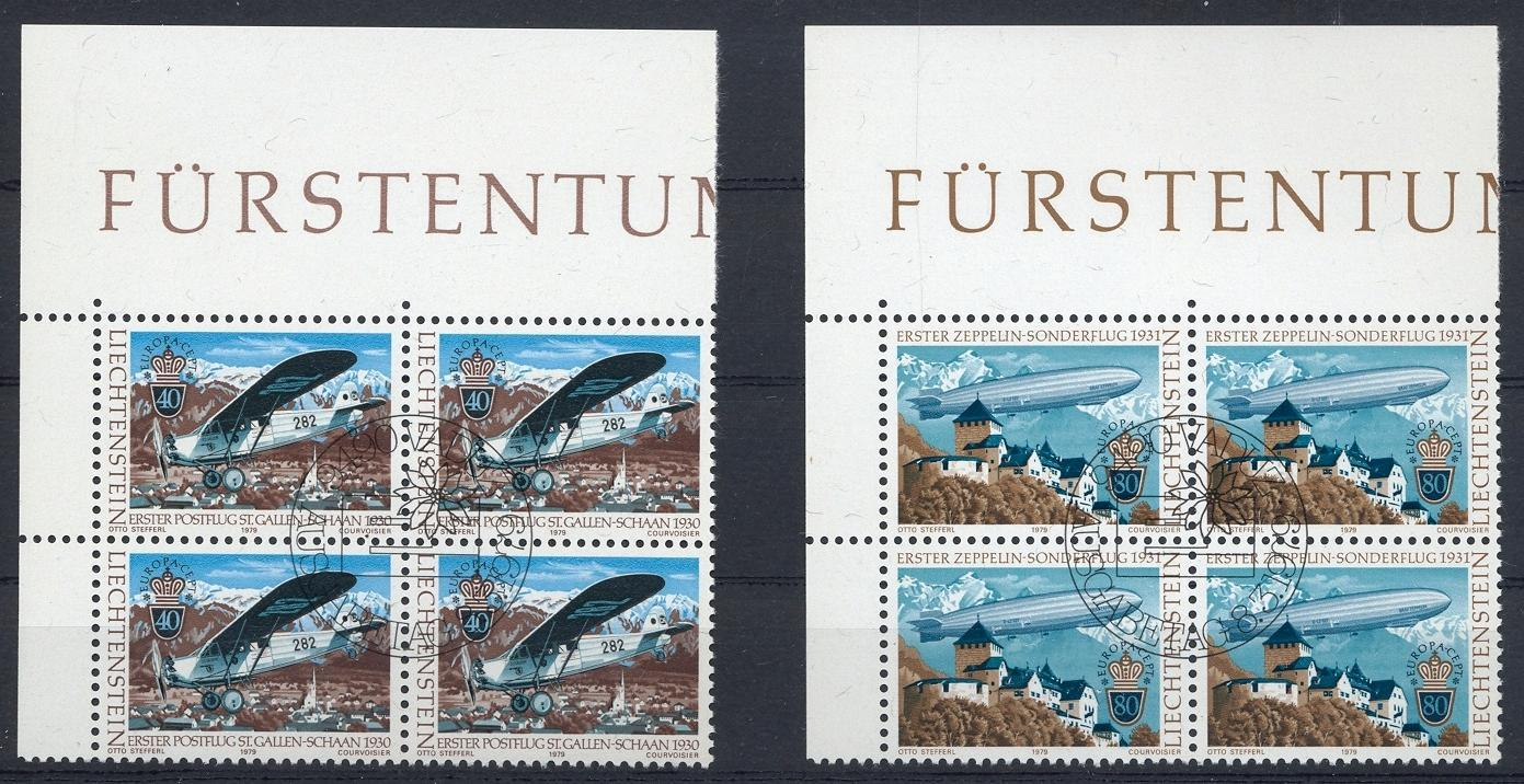 Stamps with Aircraft, Europe CEPT, Zeppelin from Liechtenstein (image for product #032204)