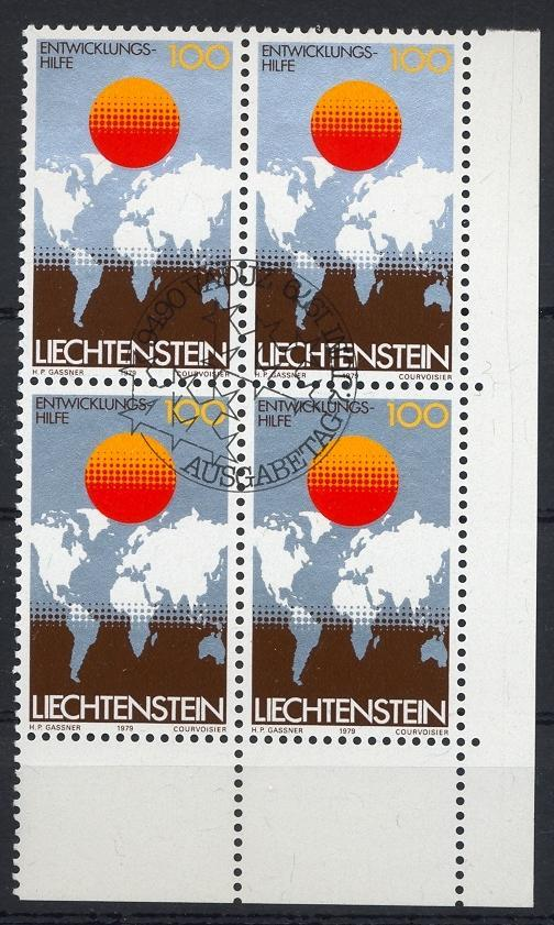 Stamps with Globe / Earth, Map from Liechtenstein (image for product #032210)