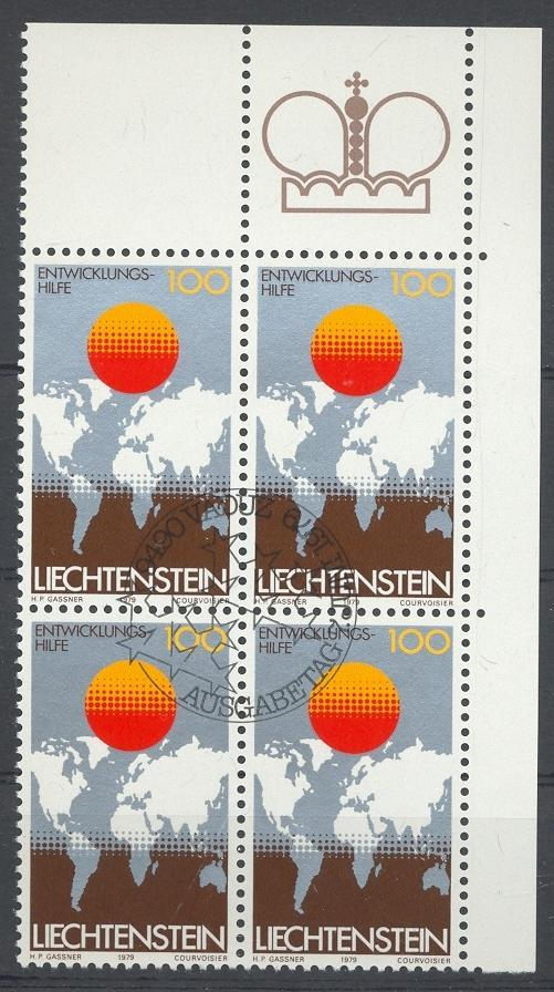 Stamps with Globe / Earth, Map from Liechtenstein (image for product #032211)