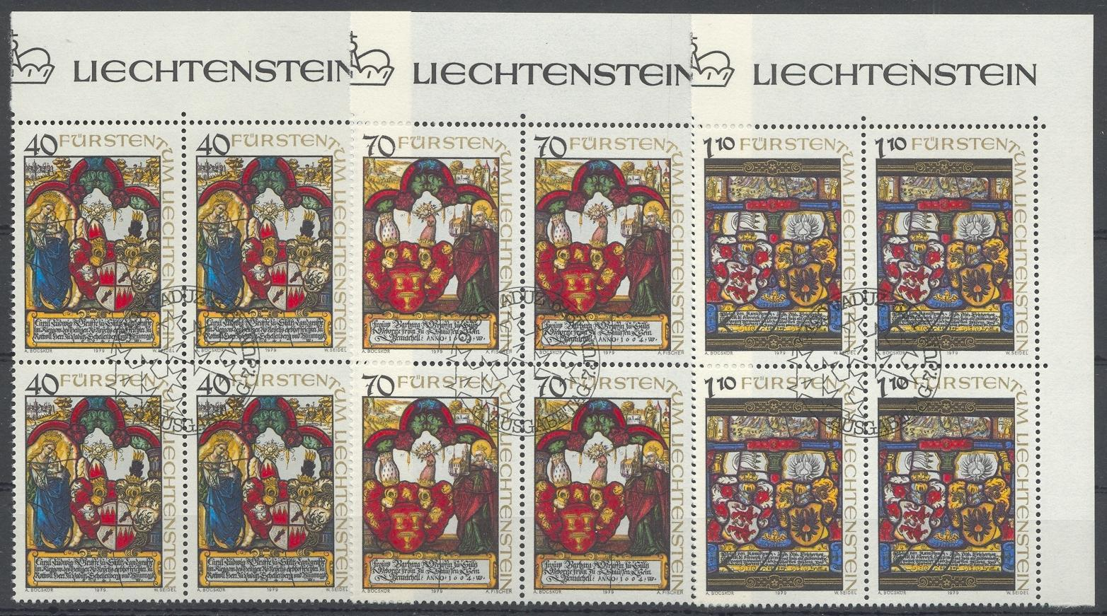Stamps with Christmas, Coat of Arms from Liechtenstein (image for product #032213)